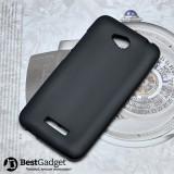 Полимерный TPU чехол для HTC Desire 616 (Черный)