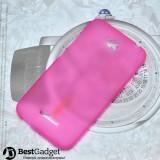 Полимерный TPU чехол для HTC Desire 616 (Розовый)