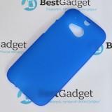 Полимерный TPU чехол для HTC One M8 (Матовый Синий)