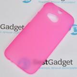 Полимерный TPU чехол для HTC One M8 (Матовый Розовый)