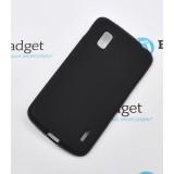 Полимерный TPU чехол для LG Google Nexus 4 (Матовый Черный)