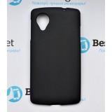 Полимерный TPU чехол для LG Google Nexus 5 (Матовый Черный)