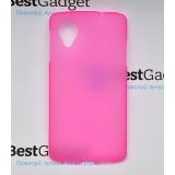 Полимерный TPU чехол для LG Google Nexus 5 (Матовый Розовый)