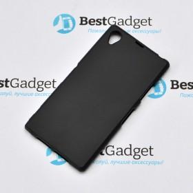 Полимерный TPU чехол для Sony Xperia Z1 C6902 (Матовый Черный)
