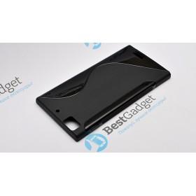 Полимерный TPU чехол Duotone для Lenovo K900 (Черный)