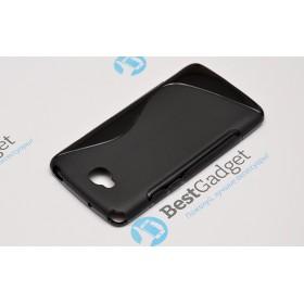 Полимерный TPU чехол Duotone для LG G Pro Lite Dual D686 (Черый)