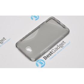 Полимерный TPU чехол Duotone для LG G Pro Lite Dual D686 (Прозрачный/Серый)