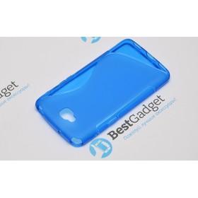 Полимерный TPU чехол Duotone для LG G Pro Lite Dual D686 (Прозрачный/Синий)