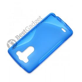 Полимерный TPU чехол Duotone для LG G3s Dual D724 (Прозрачный/Синий)
