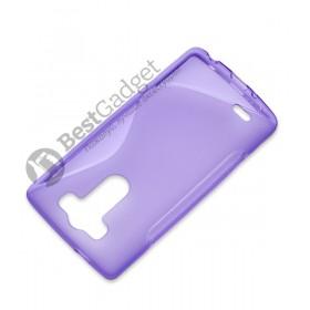 Полимерный TPU чехол Duotone для LG G3s Dual D724 (Прозрачный/Фиолетовый)