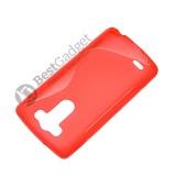 Полимерный TPU чехол Duotone для LG G3s Dual D724 (Прозрачный/Красный)