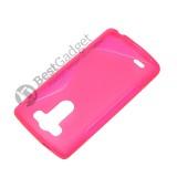 Полимерный TPU чехол Duotone для LG G3s Dual D724 (Прозрачный/Розовый)