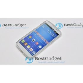 Полимерный TPU чехол Duotone для Samsung Galaxy Grand 2 (Прозрачный/Белый)