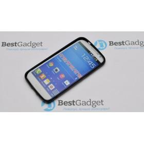 Полимерный TPU чехол Duotone для Samsung Galaxy Grand 2 (Прозрачный/Черный)
