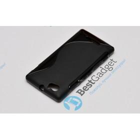 Полимерный TPU чехол Duotone для Sony Xperia M (Черный)