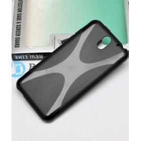 Полимерный TPU чехол New Line X-series для HTC Desire 610 (Черный) + Защитная пленка