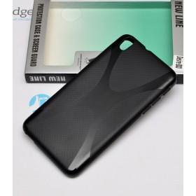 Полимерный TPU чехол New Line X-series для HTC Desire 800 (Черный) + Защитная пленка