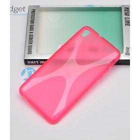 Полимерный TPU чехол New Line X-series для HTC Desire 800 (Розовый) + Защитная пленка