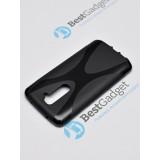 Полимерный TPU чехол New Line X-series для LG G2 (Черный) + Защитная пленка