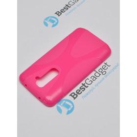 Полимерный TPU чехол New Line X-series для LG G2 (Розовый) + Защитная пленка