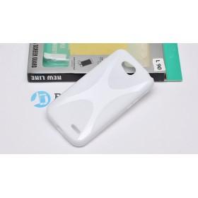 Полимерный TPU чехол New Line X-series для LG L90 (Белый) + Защитная пленка