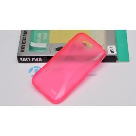 Полимерный TPU чехол New Line X-series для LG L90 (Розовый) + Защитная пленка