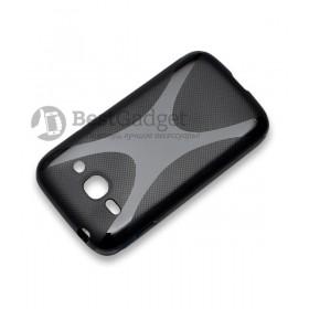 Полимерный TPU чехол New Line X-series для Samsung Galaxy Ace 3 Duos s7272 / s7270 (Черный) + Защитная пленка