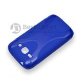 Полимерный TPU чехол New Line X-series для Samsung Galaxy Ace 3 Duos s7272 / s7270 (Синий) + Защитная пленка