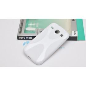 Полимерный TPU чехол New Line X-series для Samsung Galaxy Core Duos I8262 (Белый) + Защитная пленка