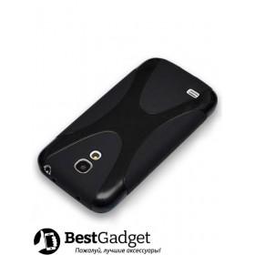 Полимерный TPU чехол New Line X-series для Samsung Galaxy S4 Mini (Черный) + Защитная пленка