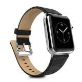 Ремешок HOCO Art series Bamboo из натуральной кожи для Apple Watch 42mm (Черный)