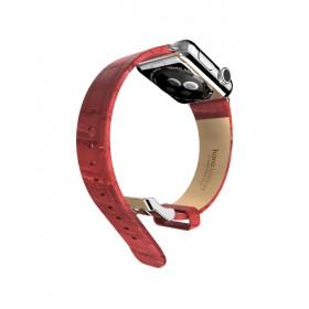 Ремешок HOCO Art series Bamboo из натуральной кожи для Apple Watch 42mm (Красный)