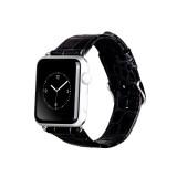 Ремешок HOCO Art series Crocodile из натуральной кожи для Apple Watch 42mm (Черный)