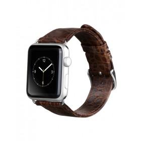 Ремешок HOCO Art series Crocodile из натуральной кожи для Apple Watch 42mm (Коричневый)