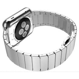 Ремешок HOCO Metal 2POINTERS из хирургической стали марки 316L для Apple Watch 42mm (Сербро)