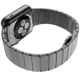 Ремешок HOCO Metal 2POINTERS из хирургической стали марки 316L для Apple Watch 42mm (Серый)