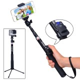 """Smatree SmaPole Q4 Bluetooth Selfie Stick - универсальный монопод с Bluetooth пультом, триногой, креплением под смартфон и стандартной резьбой 1/4"""""""
