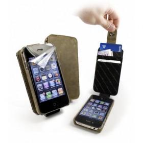 Tuff-Luv! Кожаный чехол для iPhone 4s / 4 (In-Genius Western brown)