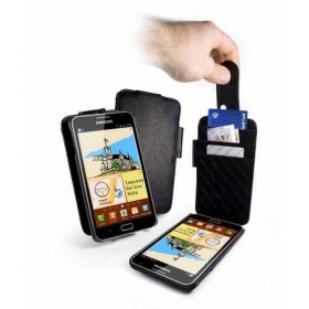 Tuff-Luv! Кожаный чехол для Samsung n7000 Galaxy Note (In-Genius Black)