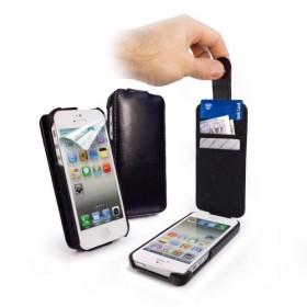 Tuff-Luv! Винтажный кожаный чехол для iPhone 5 (In-Genius black)
