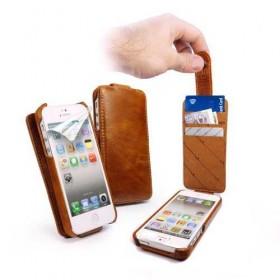 Tuff-Luv! Винтажный кожаный чехол для iPhone 5 (In-Genius brown)