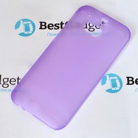 Ультра тонкий чехол 0.3mm для HTC One M8 (Фиолетовый)