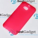 Ультра тонкий чехол 0.3mm для HTC One M8 (Красный)