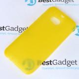 Ультра тонкий чехол 0.3mm для HTC One M8 (Желтый)