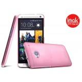 Ультра -тонкий чехол ImaK Color 0.7mm для HTC One M7 (Clear Red)