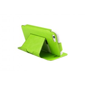 Ультра-тонкий кожаный чехол Pinlo Slice для iPhone 5 /5s / 5c  (Leather Green) + пленка