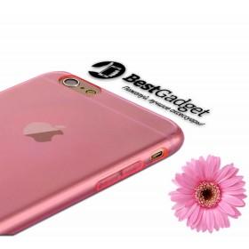 Ультра-тонкий TPU чехол Baseus Simple Case для iPhone 6 / 6s (Розовый / Прозрачный)