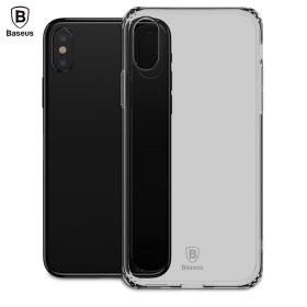 Ультра-тонкий TPU чехол Baseus Simple Case для iPhone X (Черный)