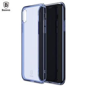 Ультра-тонкий TPU чехол Baseus Simple Case для iPhone X (Синий)