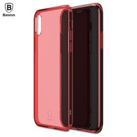 Ультра-тонкий TPU чехол Baseus Simple Case для iPhone X (Красный)
